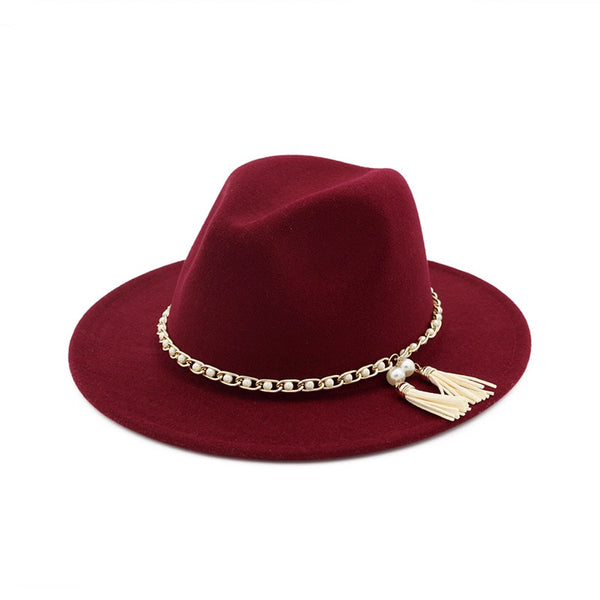 Fedora Hat with Pearls