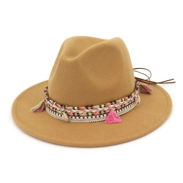 Fedora Hat with Decoration