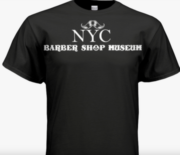 NYC Barber Shop Museum Donation T-Shirt by Arthur Rubinoff