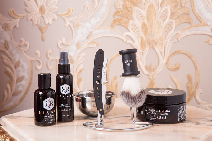 Straight Edge Shaving Set by REAMIR