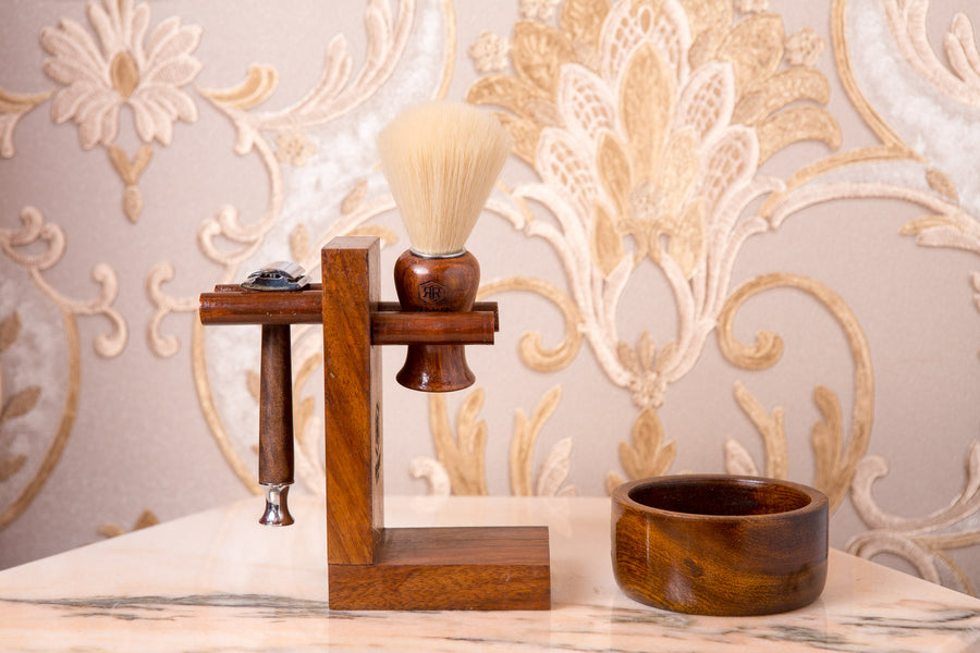 Wooden Shaving Set by REAMIR