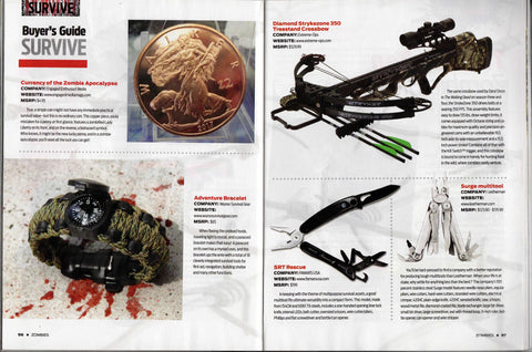 Zombies Magazine Spring 2014 Wazoo Survival Gear Adventure Bracelet