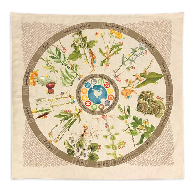 Wild edible and medicinal plant bandana for foraging by Wazoo