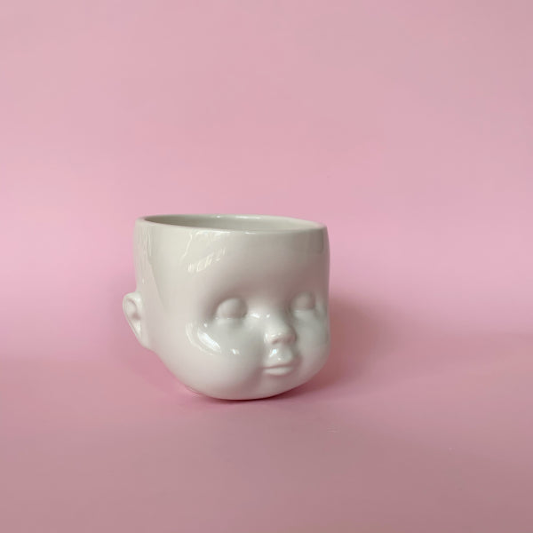 Ceramic Doll Head Vessel