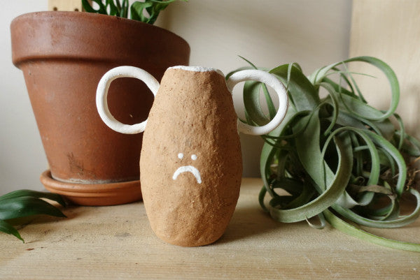 Little Sad Face Vase