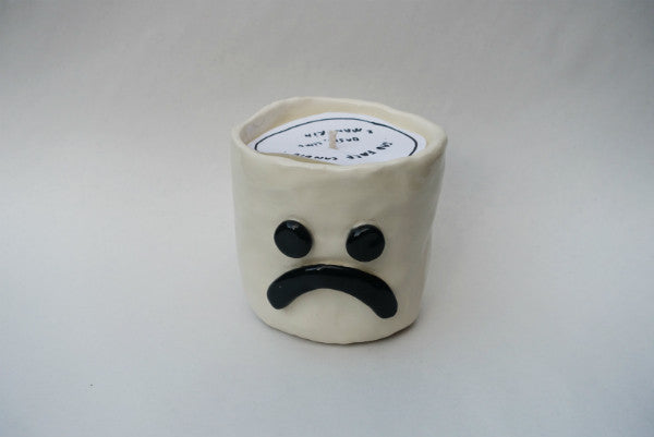 Stubby Sad Face Candle - Gloss