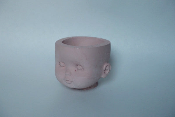 Doll Head Vessel - Dusty Pink