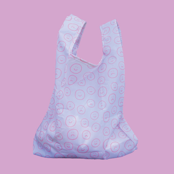 Faces Reusable Shopping Bag