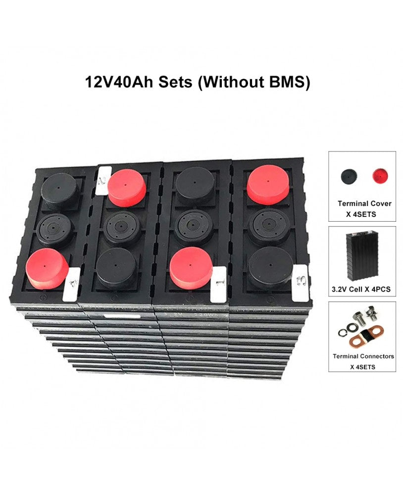12V 512WH LIFEPO4 SET WITH 40AH BATTERY CELLS