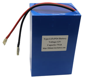 Orient Power 12V 75AH Lithium-Iron-Battery LiFePO4 with Inbuilt BMS