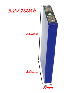 3.2V100AH LiFePO4 Battery Dimension