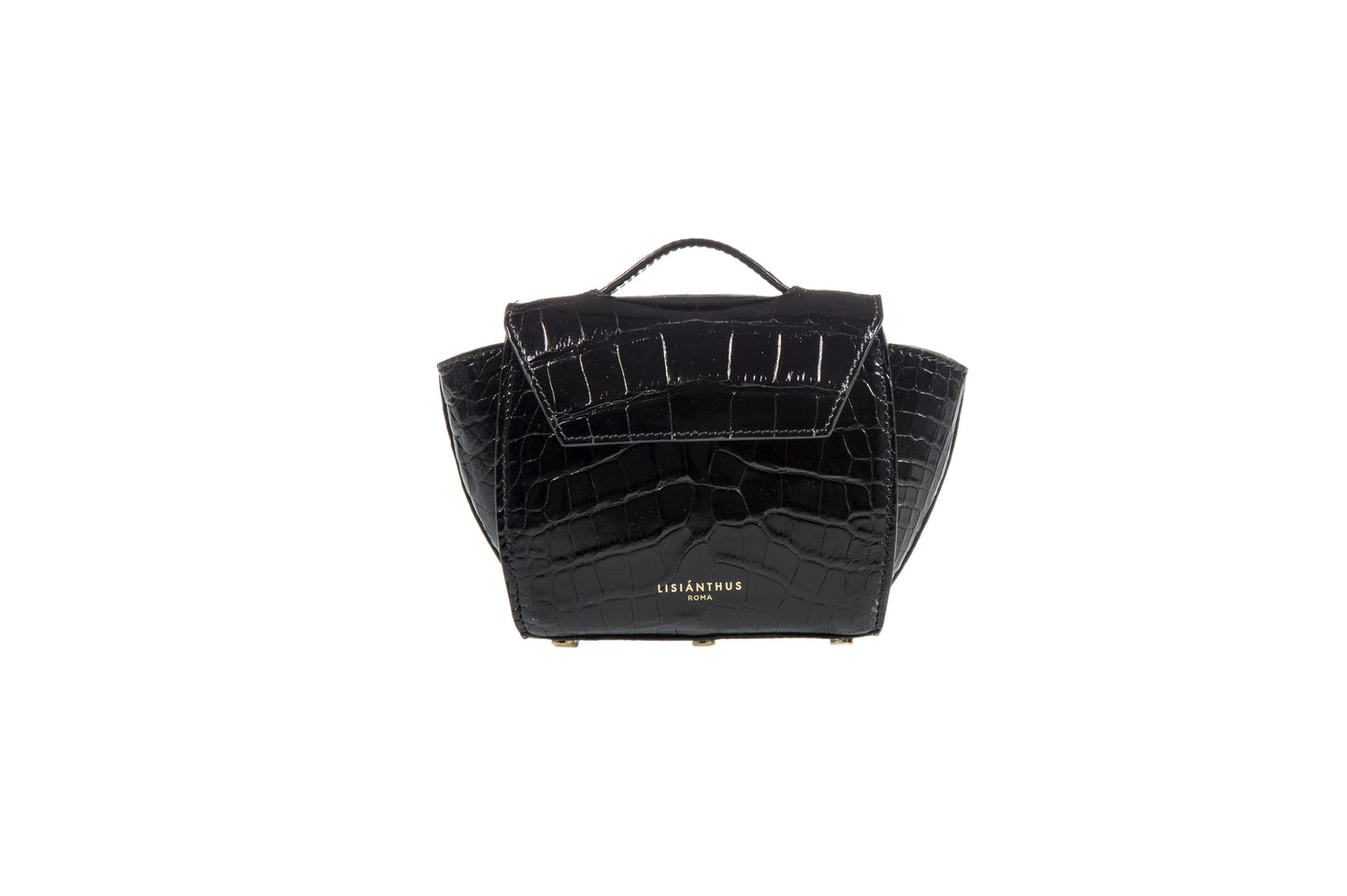 Rorò Micro in Black Alligator - Lisiánthus Roma