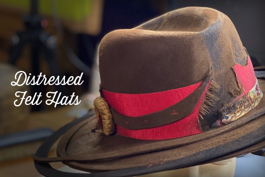 Distressed Felt Hats Guest Course