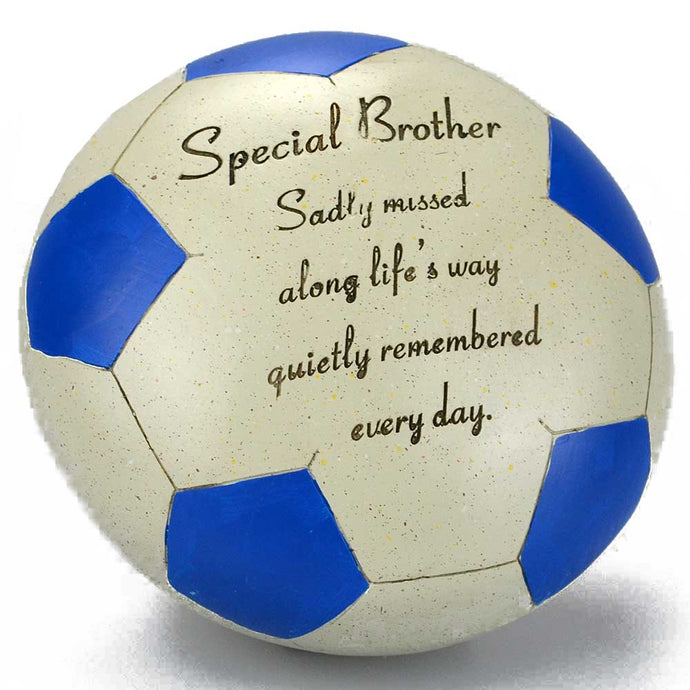 Special Brother Blue Football Memorial Ornament