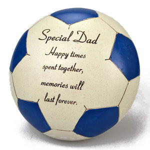 Special Dad Blue Football Memorial Ornament