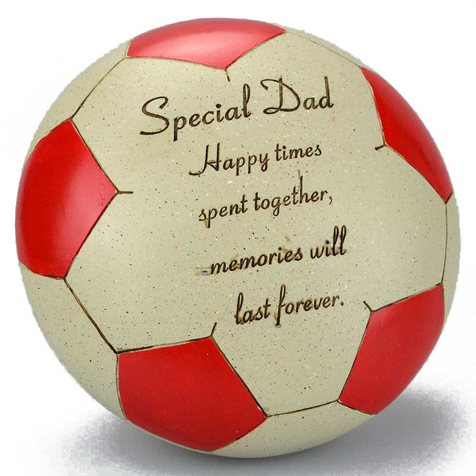 Special Dad Red Football Memorial Ornament