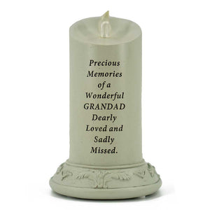 Precious Memories of a Wonderful Grandad Solar Powered Memorial Candle - Angraves Memorials