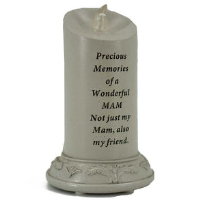 Precious Memories of a Wonderful Mam Solar Powered Memorial Candle - Angraves Memorials