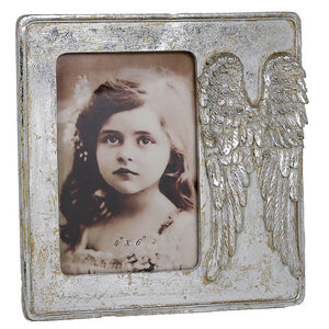 Angel Wing Memorial Photo Frame (4 x 6 inch) - Angraves Memorials