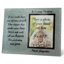 Load image into Gallery viewer, In Loving Memory Memorial Starry Silver Glitter Glass Photo Frame Never Forgotten - Angraves Memorials
