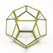 Load image into Gallery viewer, Geometric Pentagon Terrarium Display Vase (14.5cm)