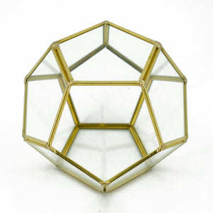 Geometric Pentagon Terrarium Display Vase (14.5cm)