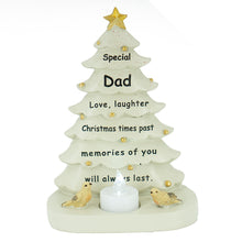 Load image into Gallery viewer, Special Dad Christmas Tree & Robin Memorial Tealight Candle Ornament