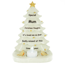 Load image into Gallery viewer, Special Mum Christmas Tree & Robin Memorial Tealight Candle Ornament
