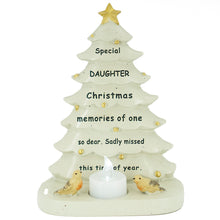 Load image into Gallery viewer, Special Daughter Christmas Tree & Robin Memorial Tealight Candle Ornament