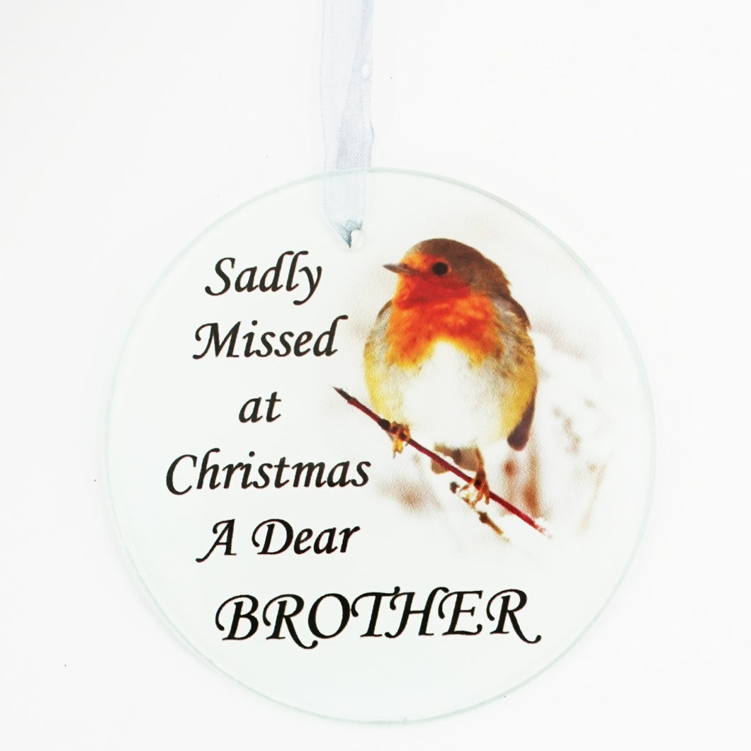 Brother Christmas Robin Memorial Tree Hanging Decoration
