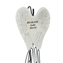 Load image into Gallery viewer, Husband Sadly Missed Guardian Angel Wings Wind Chime