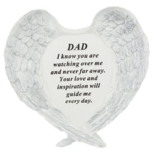 Load image into Gallery viewer, Dad Guardian Angel Heart Wings Graveside Memorial Plaque