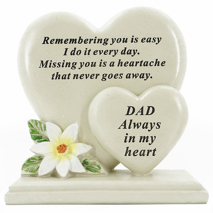 Special Dad Double Heart Plaque