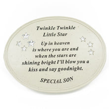 Load image into Gallery viewer, Special Son Twinkle Little Star Plaque