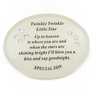 Special Son Twinkle Little Star Plaque