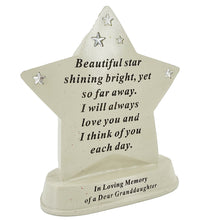 Load image into Gallery viewer, Special Granddaughter Shining Star Plaque