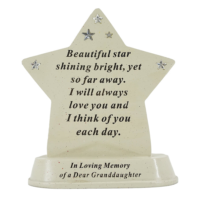 Special Granddaughter Shining Star Plaque