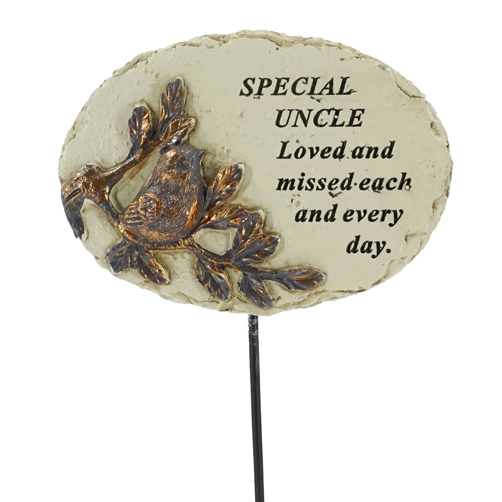 Special Uncle Love & Missed Bird Memorial Remembrance Stick