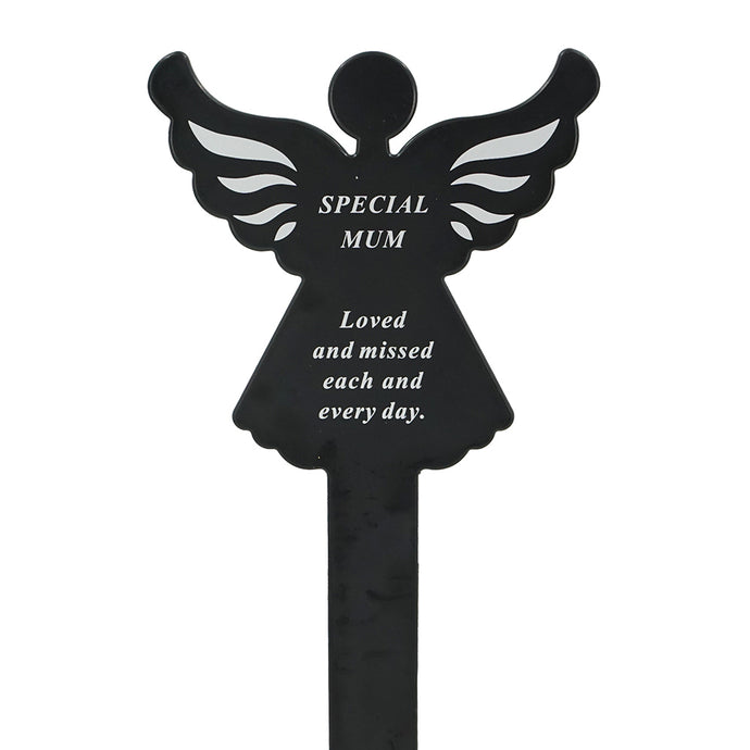 Special Mum Memorial Remembrance Grave Angel Ground Stake Plaque