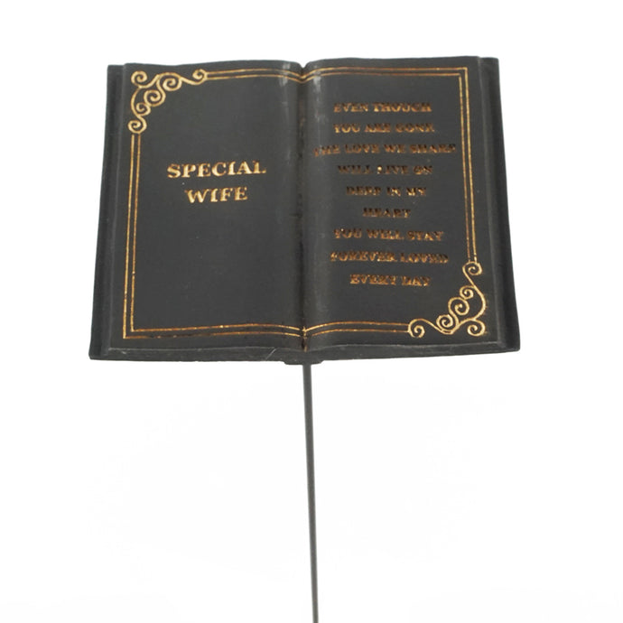 Special Wife Memorial Black Book Remembrance Stick
