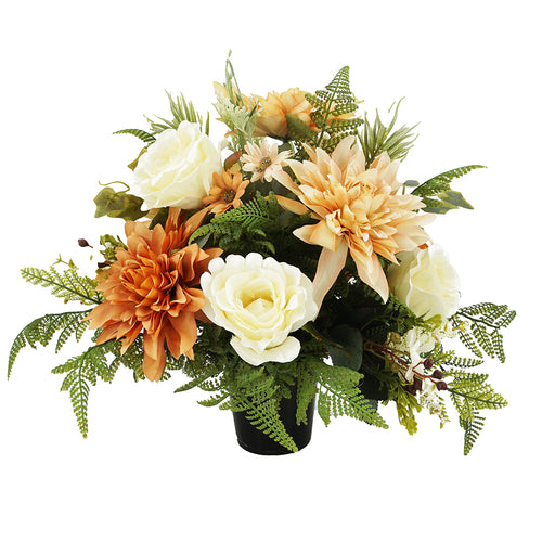 Asher Orange Dahlia Memorial Arrangement