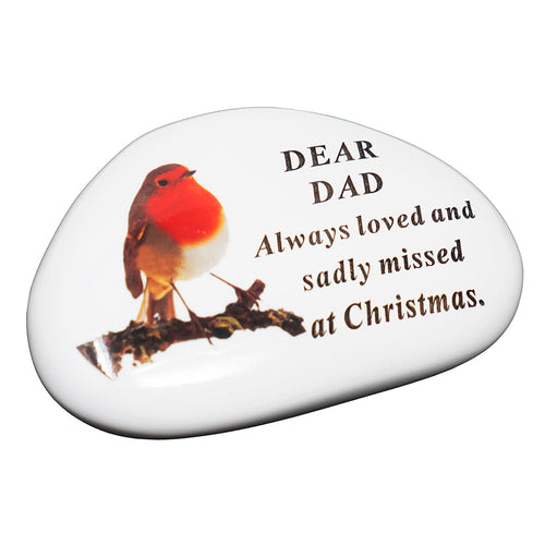 Dad Christmas Robin Memorial Plaque