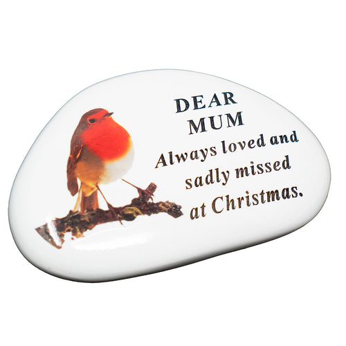 Mum Christmas Robin Memorial Plaque