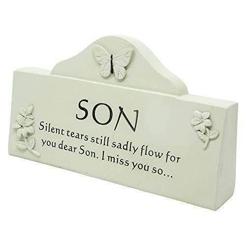 Son Butterfly Message Graveside Memorial Plaque
