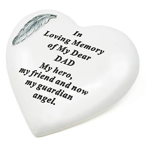 Special Dad Silver Feather Heart Ornament - Angraves Memorials