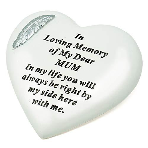 Special Mum Silver Feather Heart Ornament - Angraves Memorials