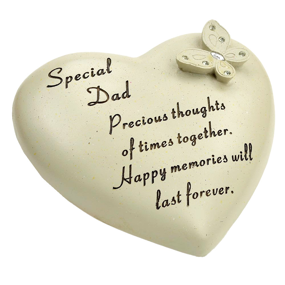 Special Dad Diamante Butterfly Heart Memorial Ornament