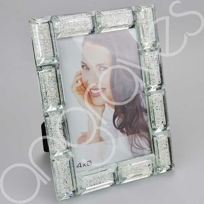 Block Diamond Crush Photo Frame (4 x 6 inch) - Angraves Memorials