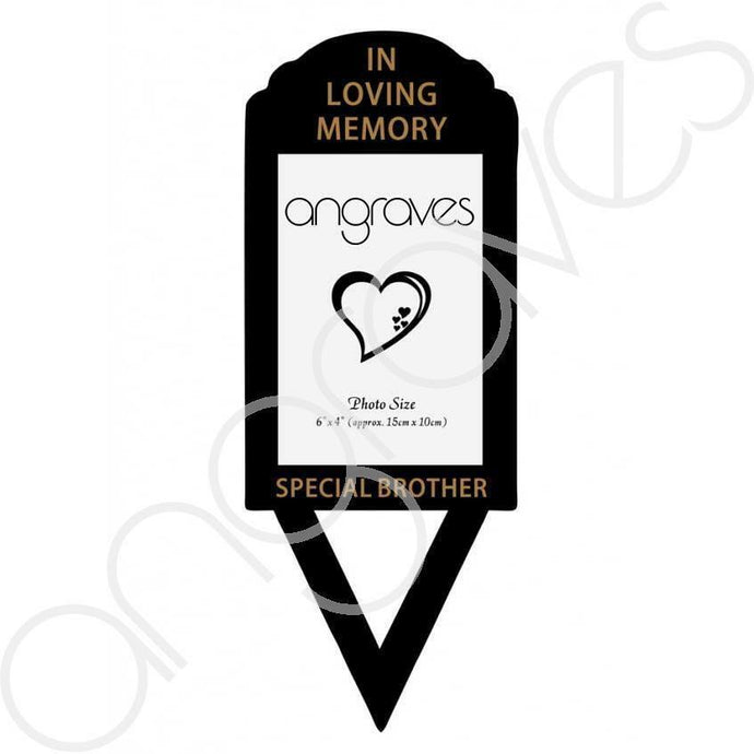 Special Brother Photo Frame Holder Ground Stake - Angraves Memorials