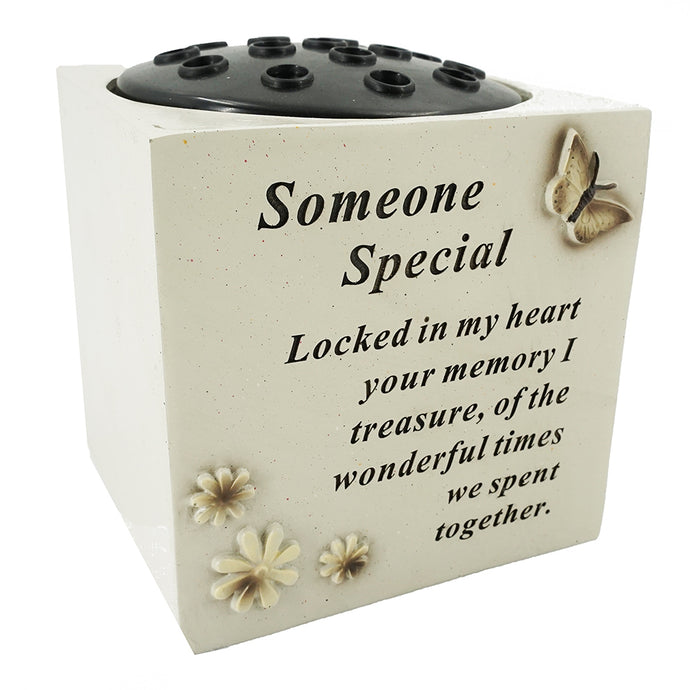Someone Special  Butterfly & Flower Vase